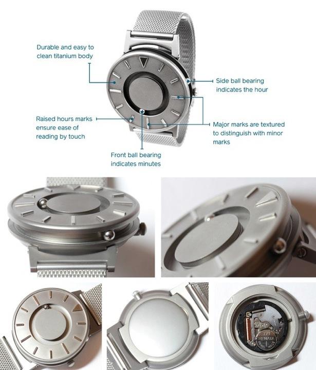 デザイン格好よすぎ! 触って時間を知る腕時計「The Bradley」