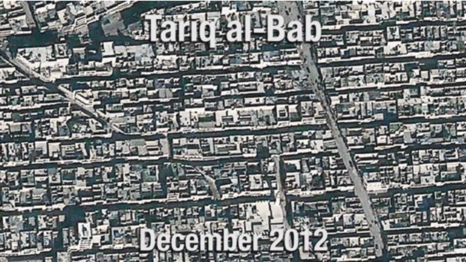 衛星写真が語る、シリア第2の都市の崩壊