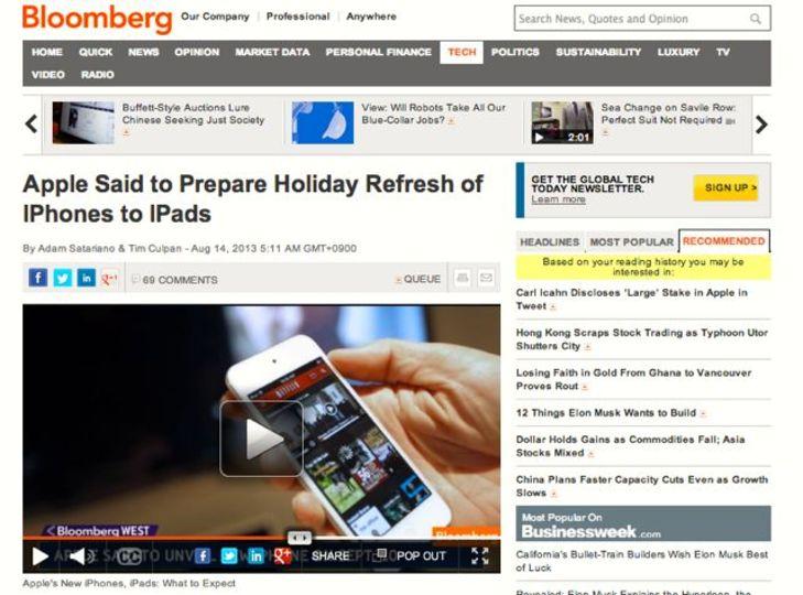 新しいiPhoneは9月10日発売? 一方で次期iPadシリーズはもうちょっと先になりそう(Bloomberg報道)