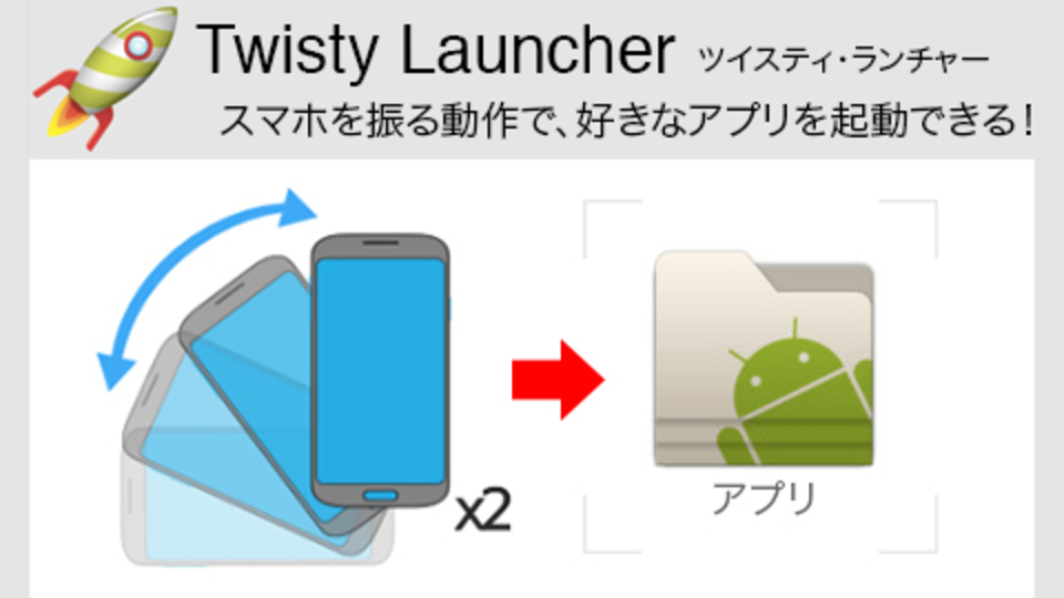 シュっと! クイっと! ロック解除も飛ばして一瞬でアプリを起動できる「Twisty Launcher」(動画あり)