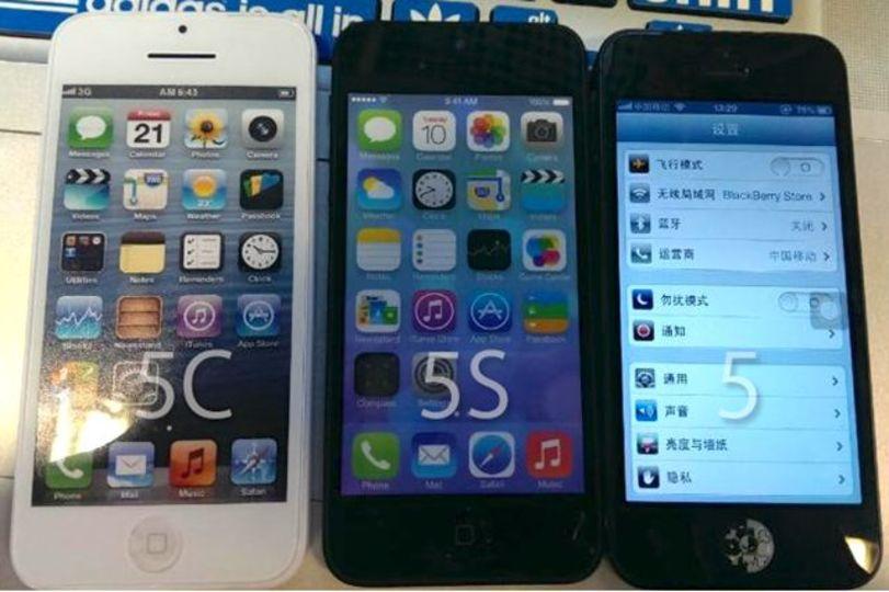 新型iPhone(5S・5C)と現行モデルの比較画像が流出