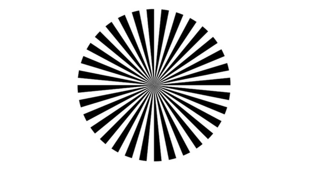 この絵をよく見てください。自分の脳波が見えてきます。