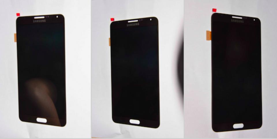 Galaxy Note IIIのフロントパネルが流出、挟ベゼルで物理ホームキー搭載