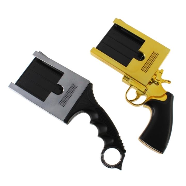 職質必至!? 「荒くれ者」向けのナイフ&ピストル型iPhone5ホルダー
