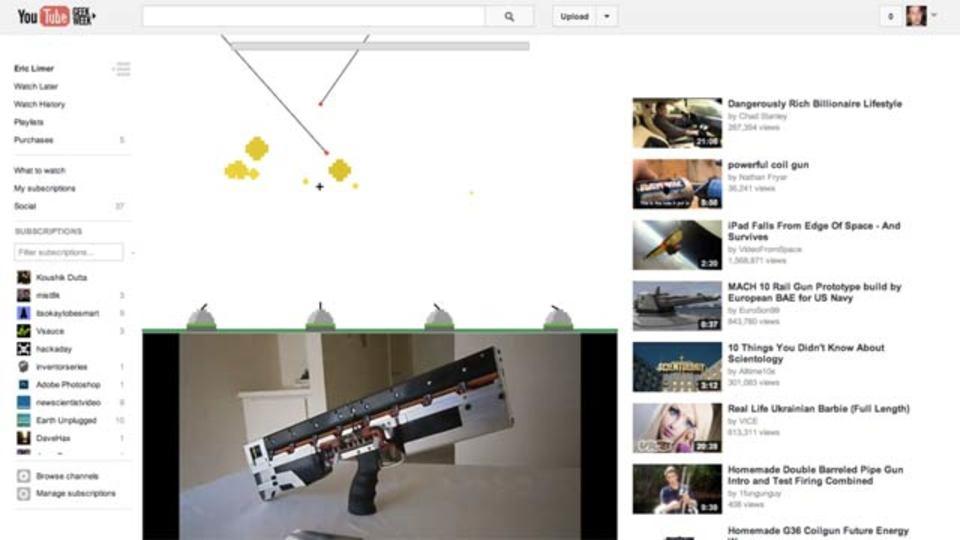 YouTubeのイースター・エッグ、「1980」とタイプすると…