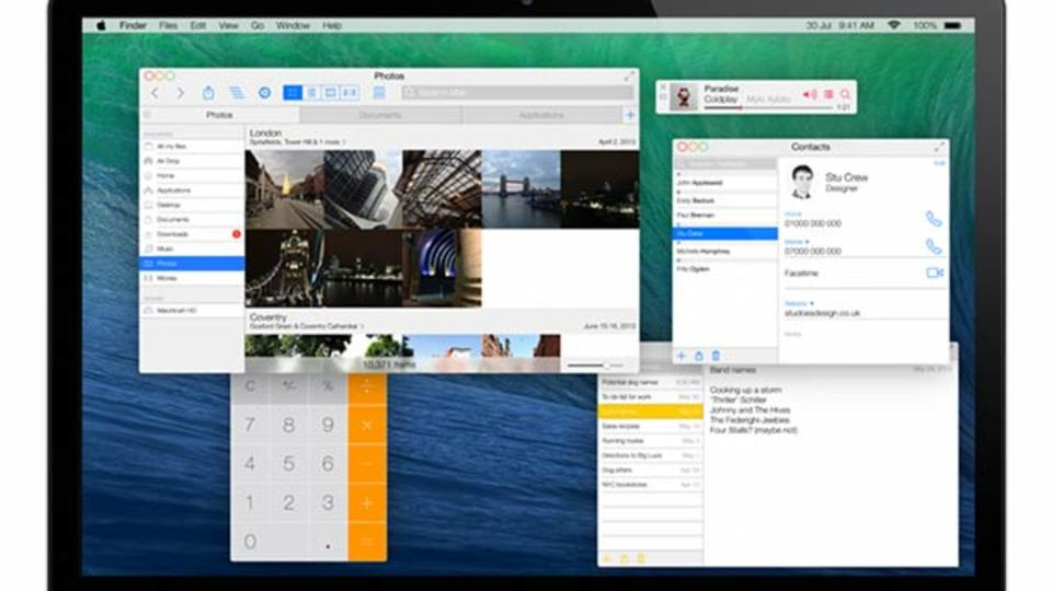 OS XにiOS 7の要素が加わると、こんな感じになる