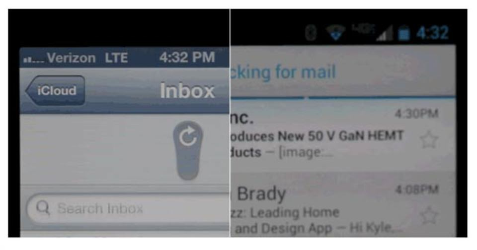 どっちが好き? iOSとAndroidのメール取得アニメーションをGIFで比較