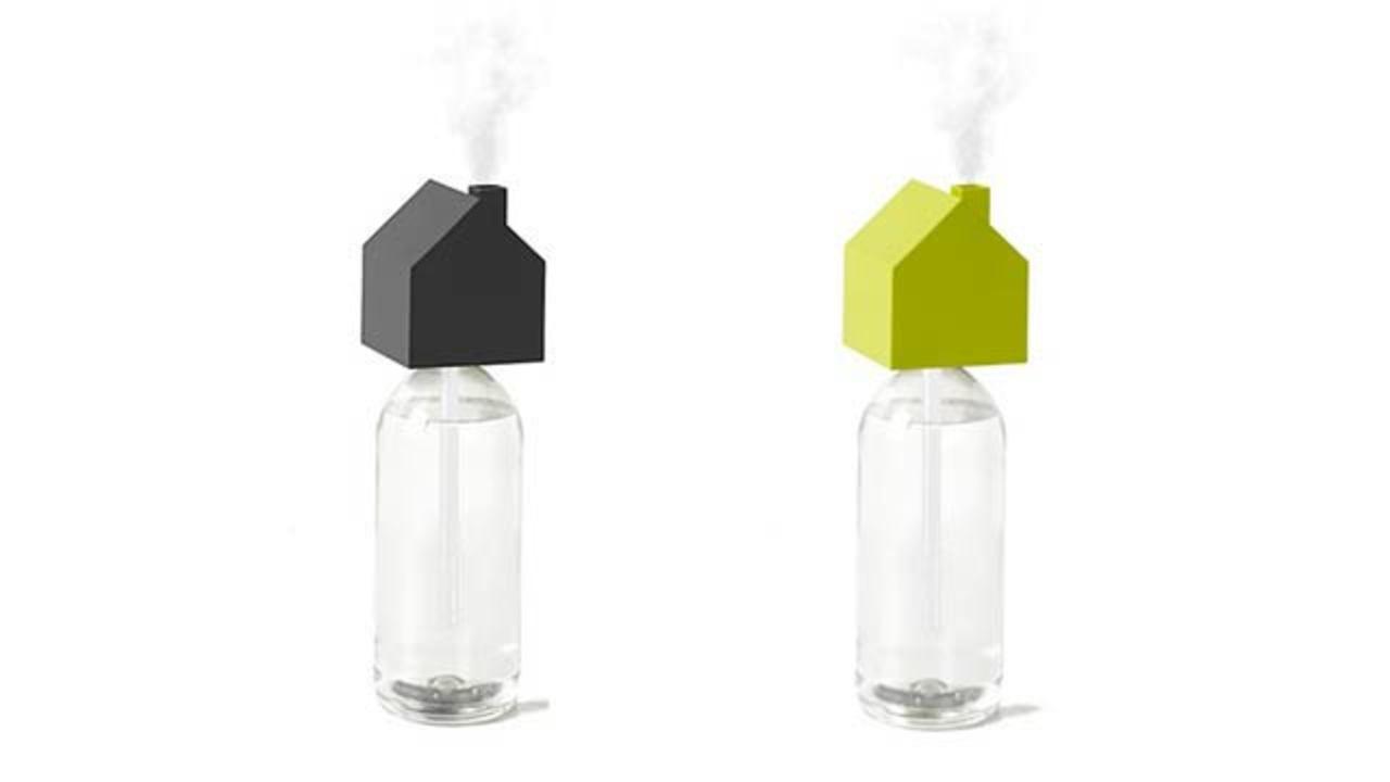 小さなお家の小さな煙突、持ち運べる小さな加湿器