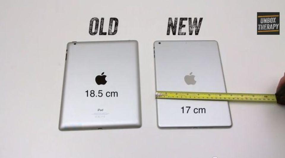 新型iPadの外装と現行iPadの比較動画が登場。大幅なスリム化を確認!