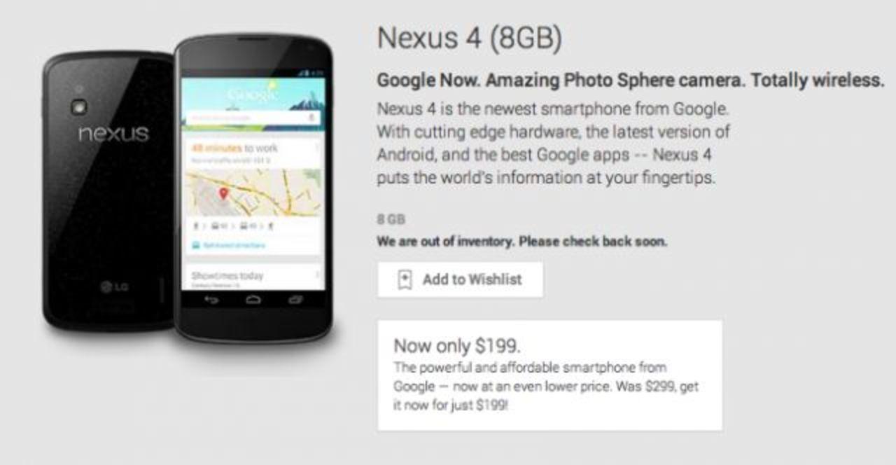 Nexus 5は10月末発売? Nexus 4 8GBモデルは在庫切れ