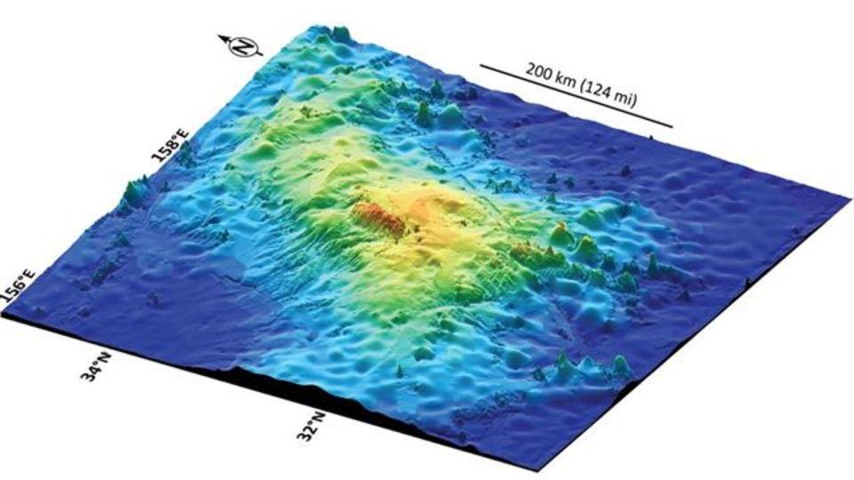 世界最大の火山が日本近海の海底で見つかる