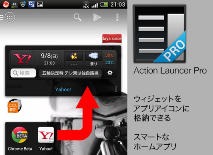 TABROIDが絶賛するシンプルスマートホームアプリ、ウィジェットをアイコンに格納できる「Action Launcher Pro」