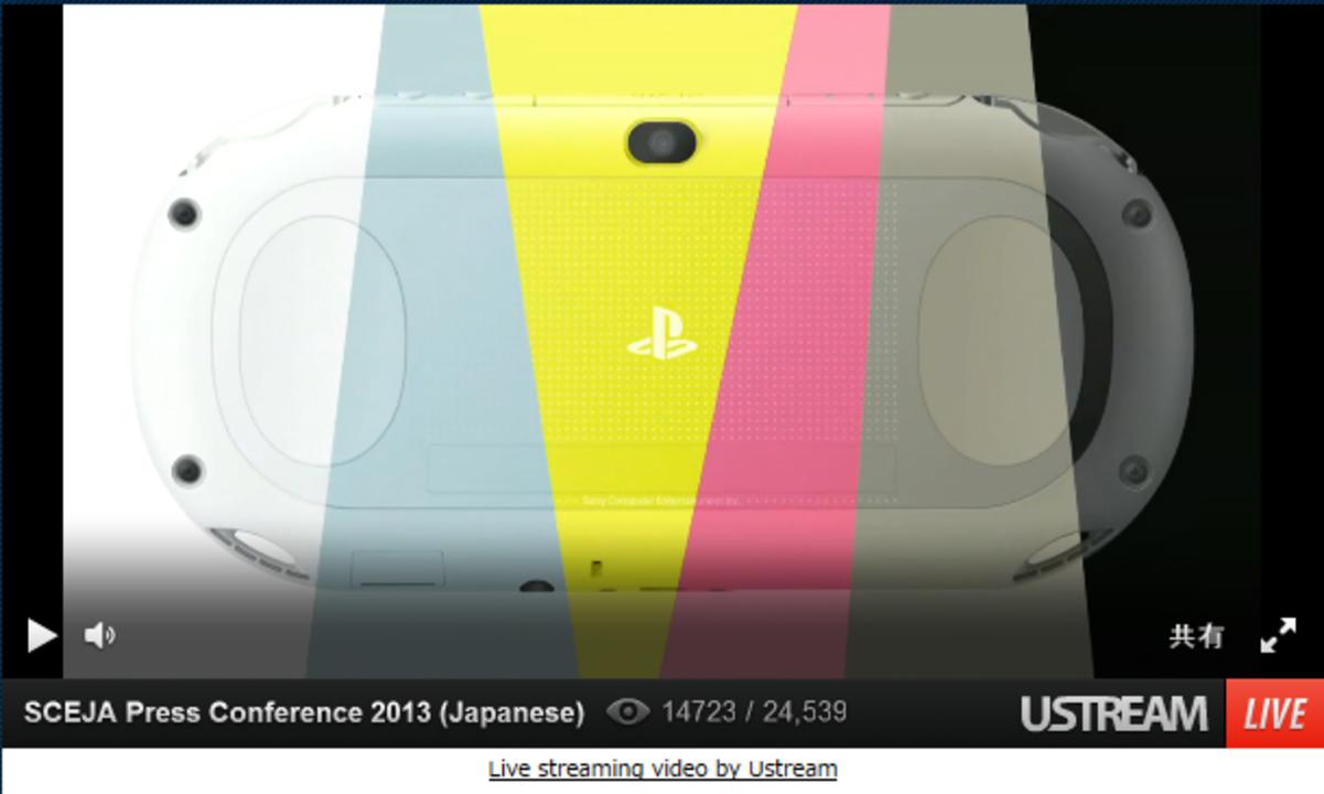 ソニー、新型PS Vitaを発表! 薄く軽くて全6色、10月10日発売