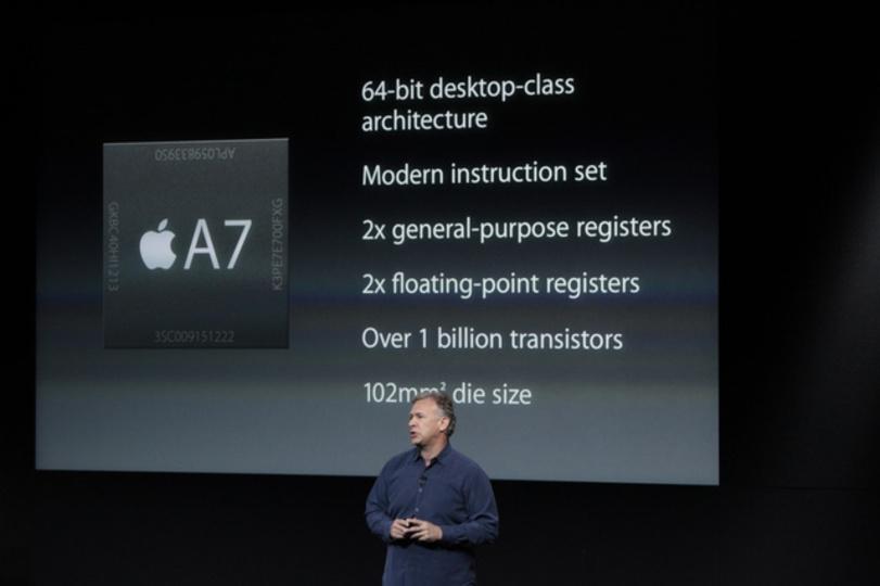iPhone 5sのA7チップは64Bit。初代iPhoneと比べて40倍(グラフィクスは56倍)のスピード