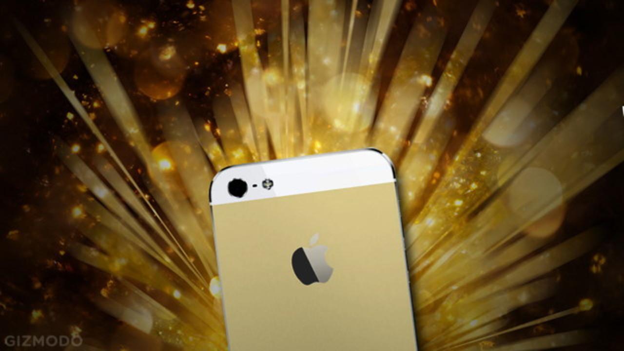 iPhone 5s、カラーバリエーションは、シルバー、ブラック、そしてゴールド