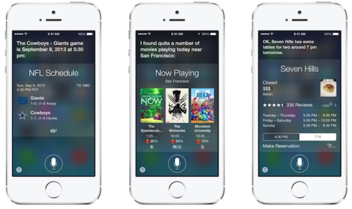 Siri、iOS 7でベータがとれて正式版へ