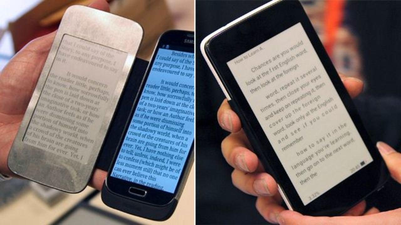 スマホの電子書籍をE Inkディスプレイで読めるカバーが登場