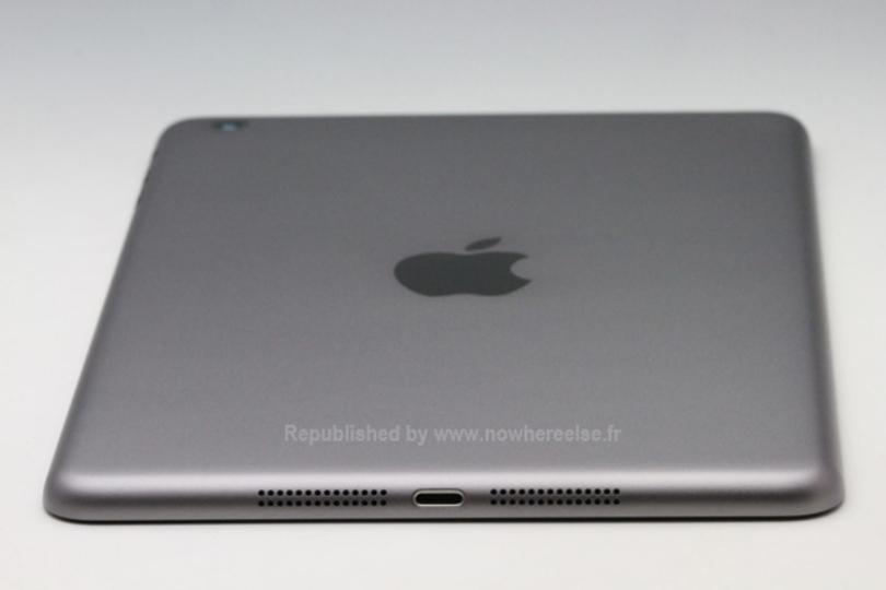 新型iPad miniのグレーモデルの背面部品が流出、指紋認証も搭載?