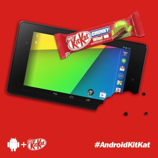 Android 4.4 KitKatは10月登場? ネスレ公式Facebookアカウントが発言