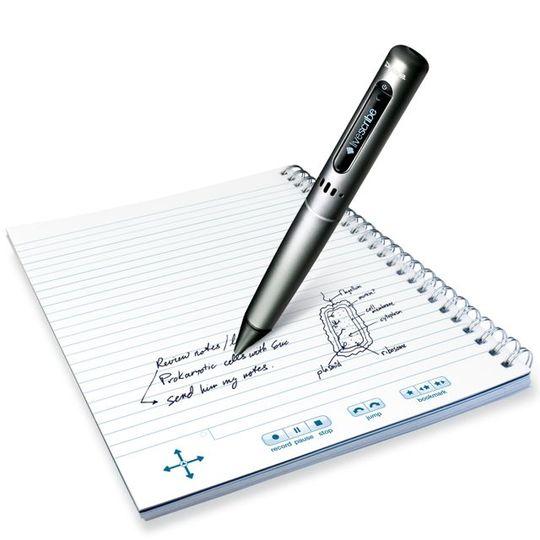 ノートに書いた文字や絵、音声を記録する「エコー・スマートペン」を学研が国内独占販売