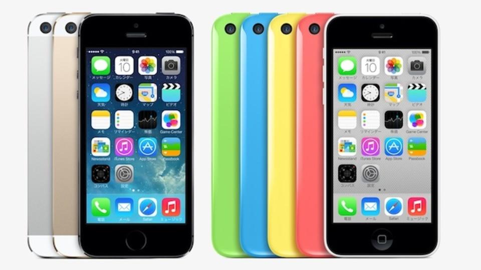 iPhone、携帯販売ランキングの1位〜9位を独占。 5s/5cではソフトバンクがトップ
