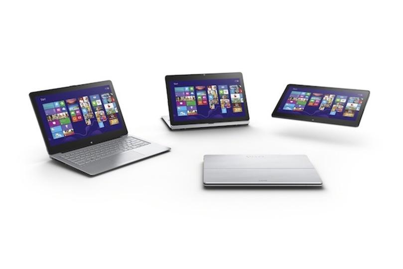 [ #IFA2013 ]変形したよ! ソニー、マルチフリップ型ノートPC「VAIO Fit」を発表