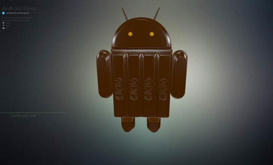 Androidのキットカットロゴマスコット、さっそく3Dモデルが作られる