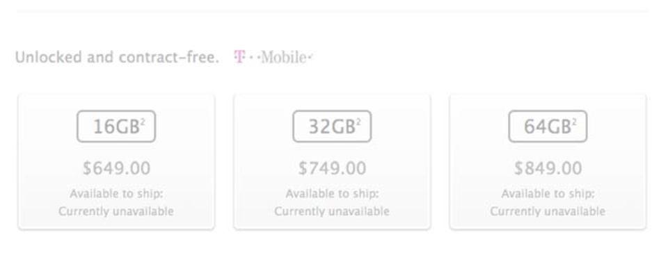 iPhone 5c/iPhone 5s、契約なしのSIMフリー端末の米国価格が公開
