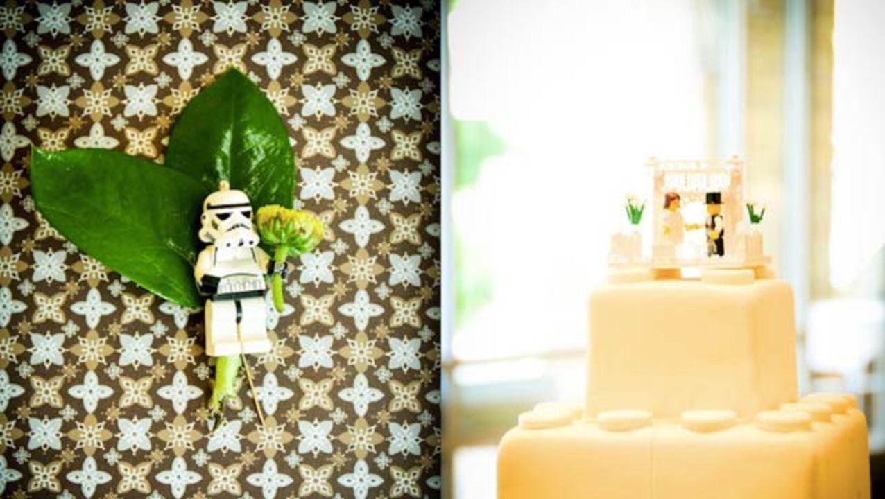 ブーケもケーキもレゴ、最高のレゴウェディング
