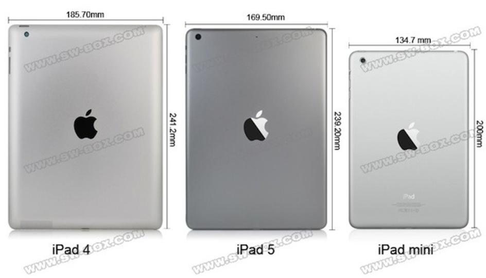 薄型で軽そう! 新しいiPad 5をiPad 4、iPad miniと比較した詳細動画がリークされたよ(動画あり)