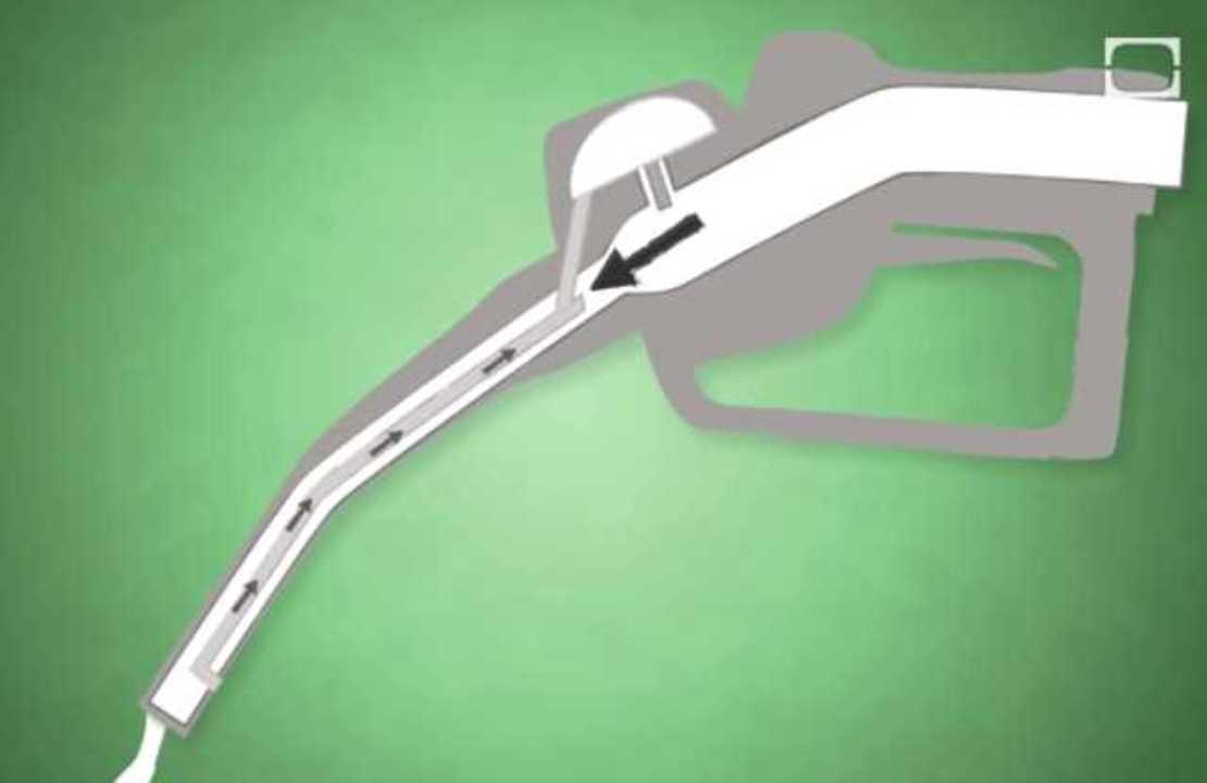 ガソリンスタンドのポンプはなぜ自動で止まるの?(動画)