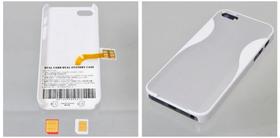 iPhone 5に2枚のSIMカードを搭載できるケースがサンコーから発売に