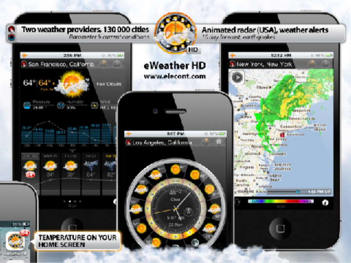 かなり詳しい情報まで分かるよ、外出に重宝したい天気アプリ「eWeather HD」