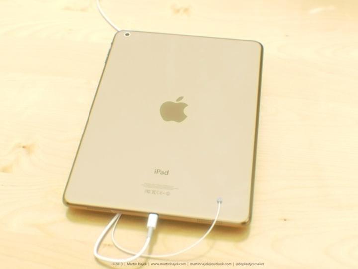 圧倒的存在感…。新型iPadゴールドカラーの予想画像が登場、背面部品も確認済み