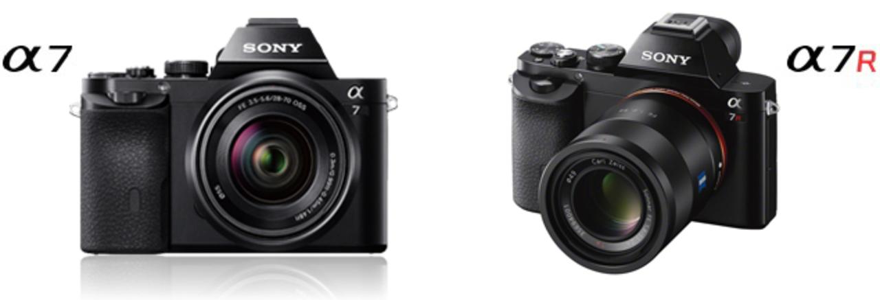 ソニー、フルサイズミラーレス「α7」「α7R」と、24-200mmがf2.8通しの「RX10」を発表