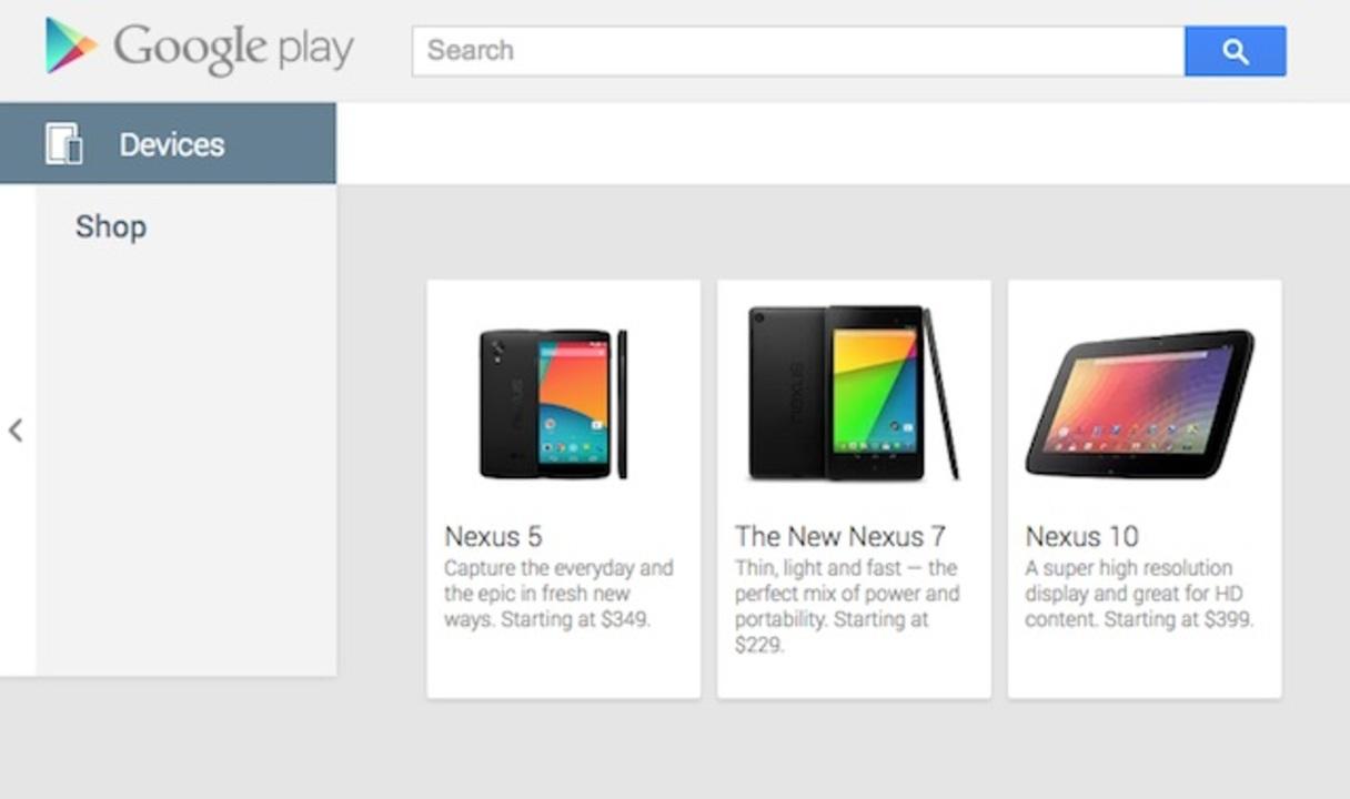 Nexus 5は349ドル(約3万4000円)から! Google Play Storeにうっかり掲載