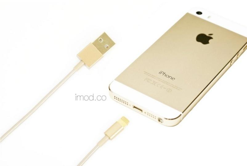 iPhone 5sにぴったりなゴールドのLightningケーブルはいかが?