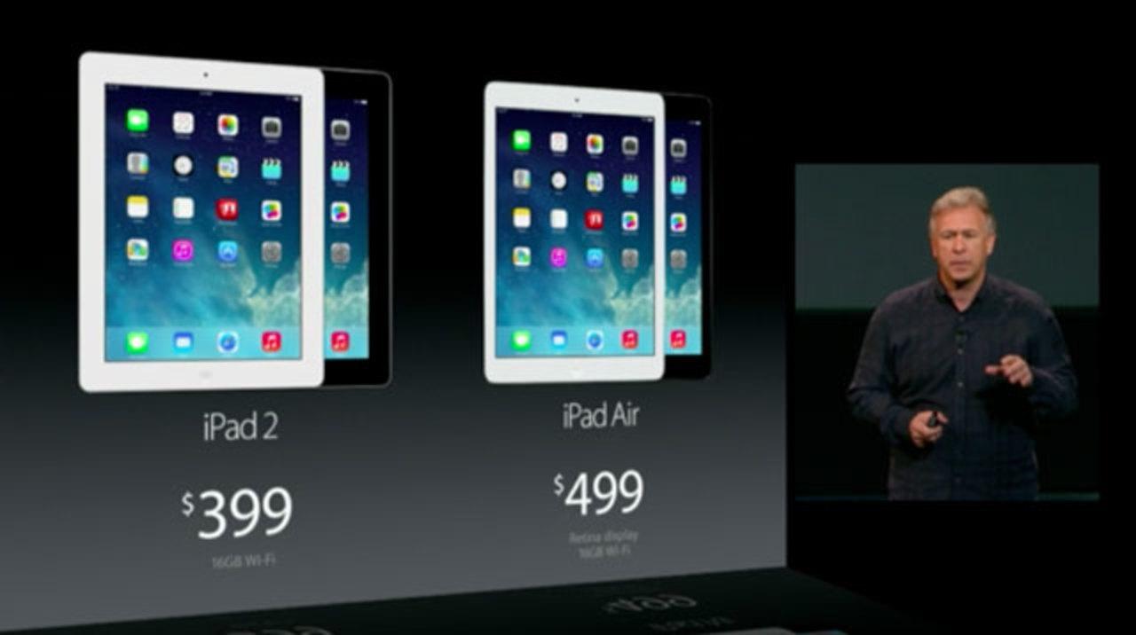 iPad Airは11月1日発売。価格はWiFiモデルが499ドル~、セルラーモデルが629ドル~