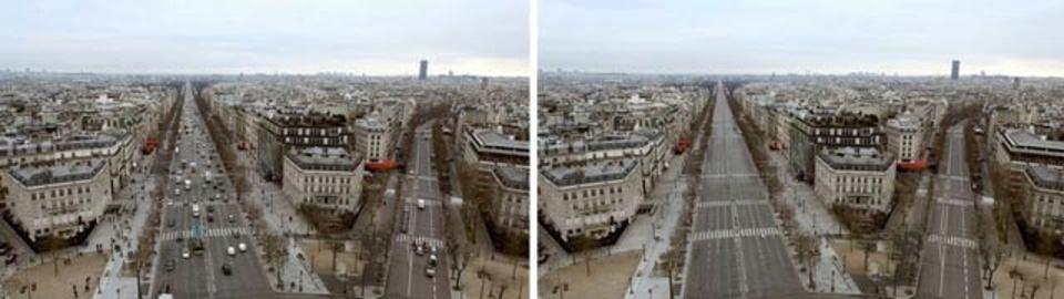そして誰もいなくなった…、人のいないパリの街(動画)
