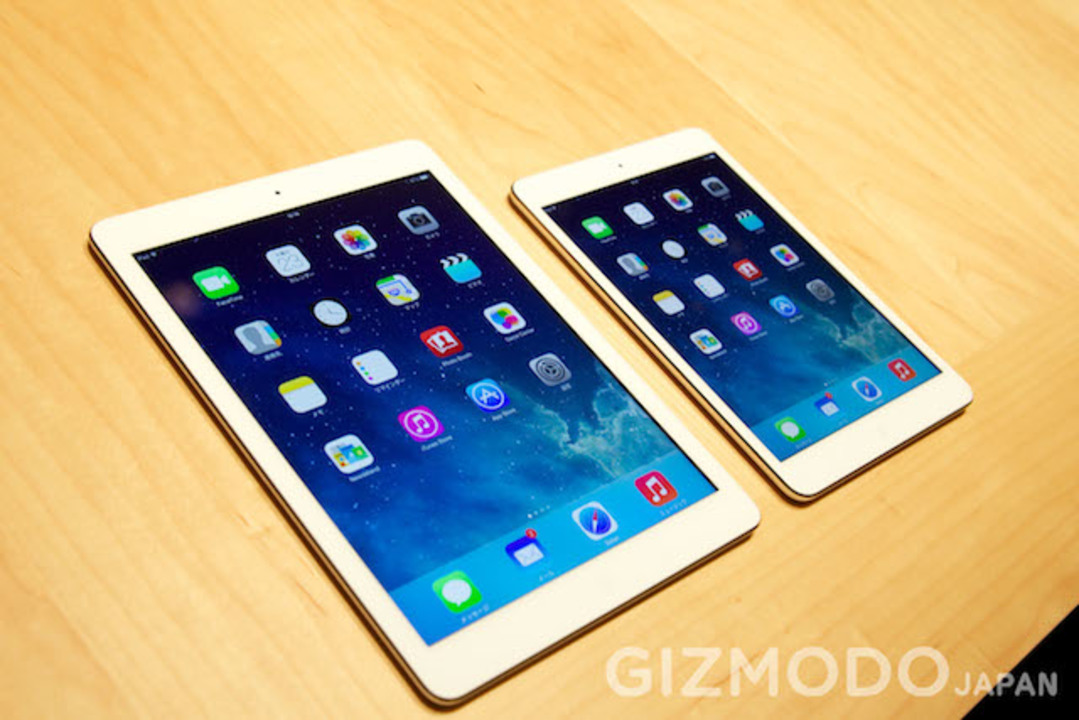 iPad AirとiPad miniハンズオン。iPad Airの軽さは持たないと分からない