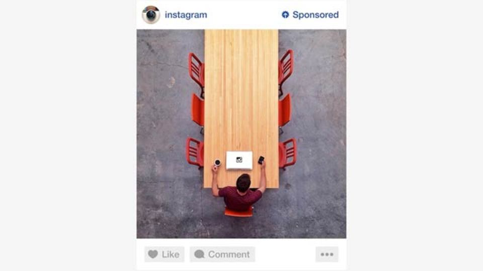 Instagramの広告は、こんな感じで表示されるみたい