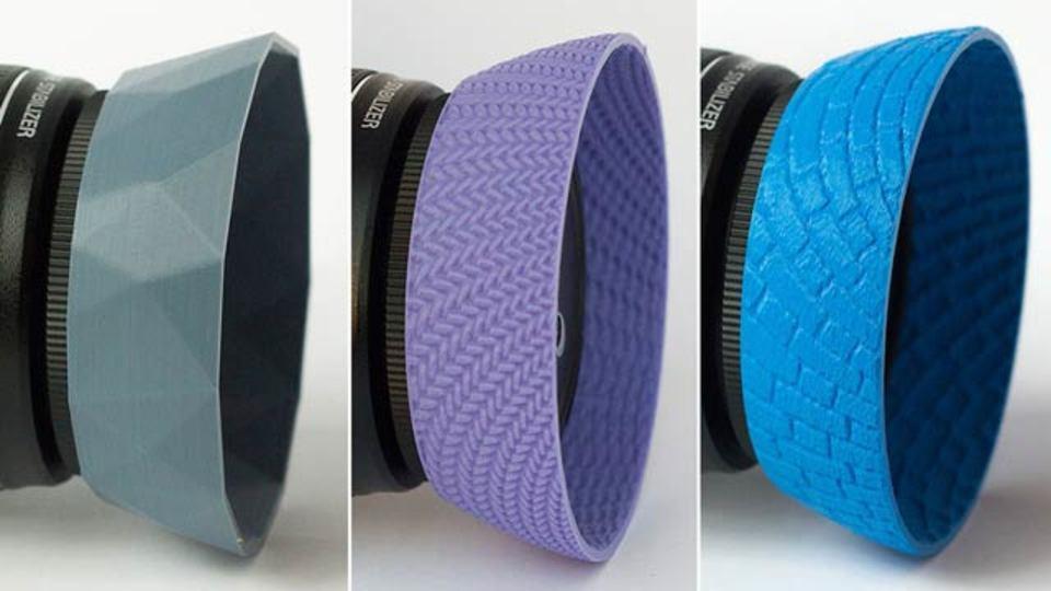 3Dプリンターで作ったレンズフード、カメラのアクセサリーがユニークに変わる