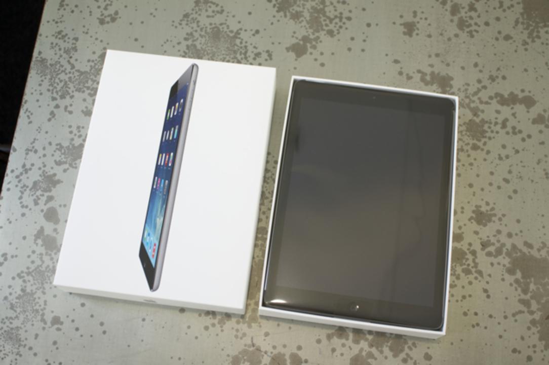 エッジかっこいい! iPad Airアンボックス