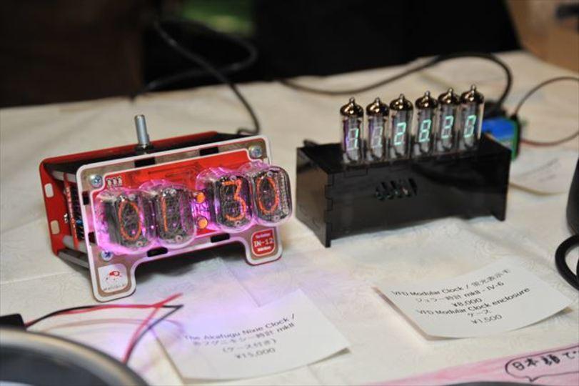 【 #mft2013 】誰でも作れそう? 麗しきニキシー管&蛍光表示管の時計キット