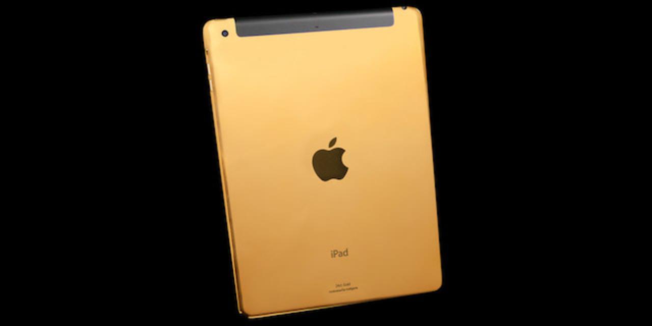 うおっまぶしっ! 純金やプラチナ仕様のiPad AirとiPad mini Retinaが登場、お値段約18万円〜