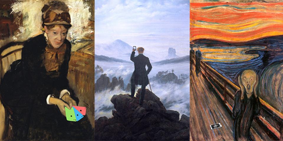 有名絵画にiPhoneやMacbook? まんざらでもない絵画たち(ギャラリーあり)