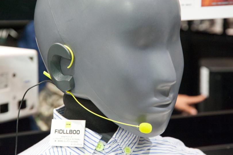 【 #interbee2013 】メガネっこでも快適な装着感。ヘッドセット・マイク「d:fine」