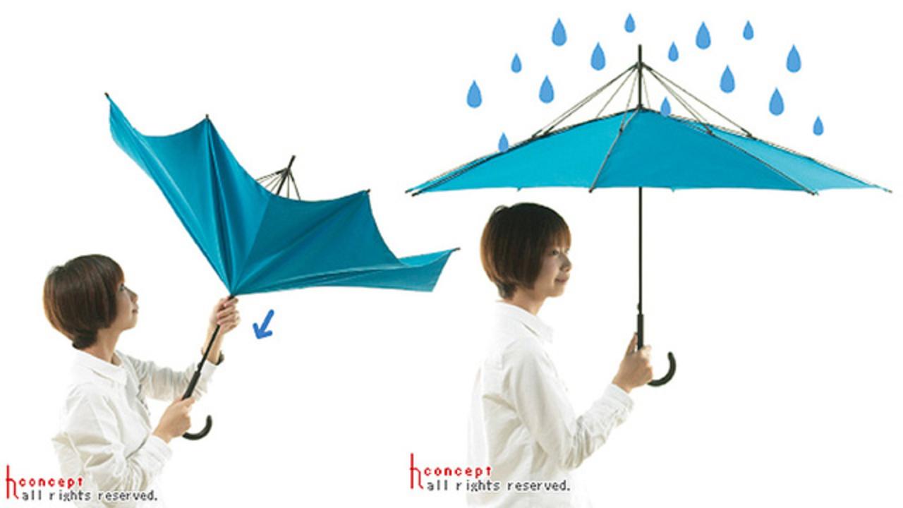 その発想はなかった! 「強風に煽られてもめくれない傘」登場
