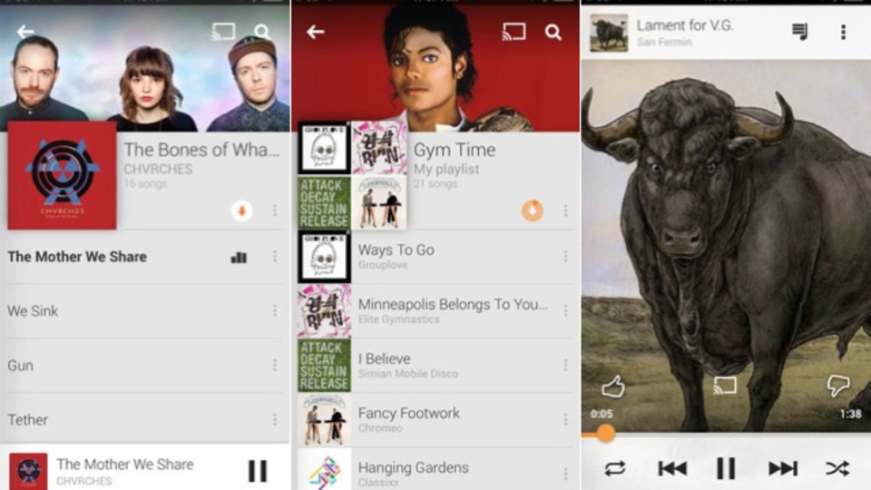 「Google Play Music」、米国でiOS版も提供開始