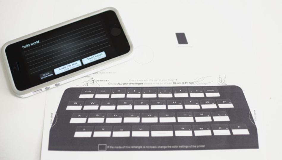未来が、来た。iPhoneが紙に印刷したキーボードで入力できるようになりました!